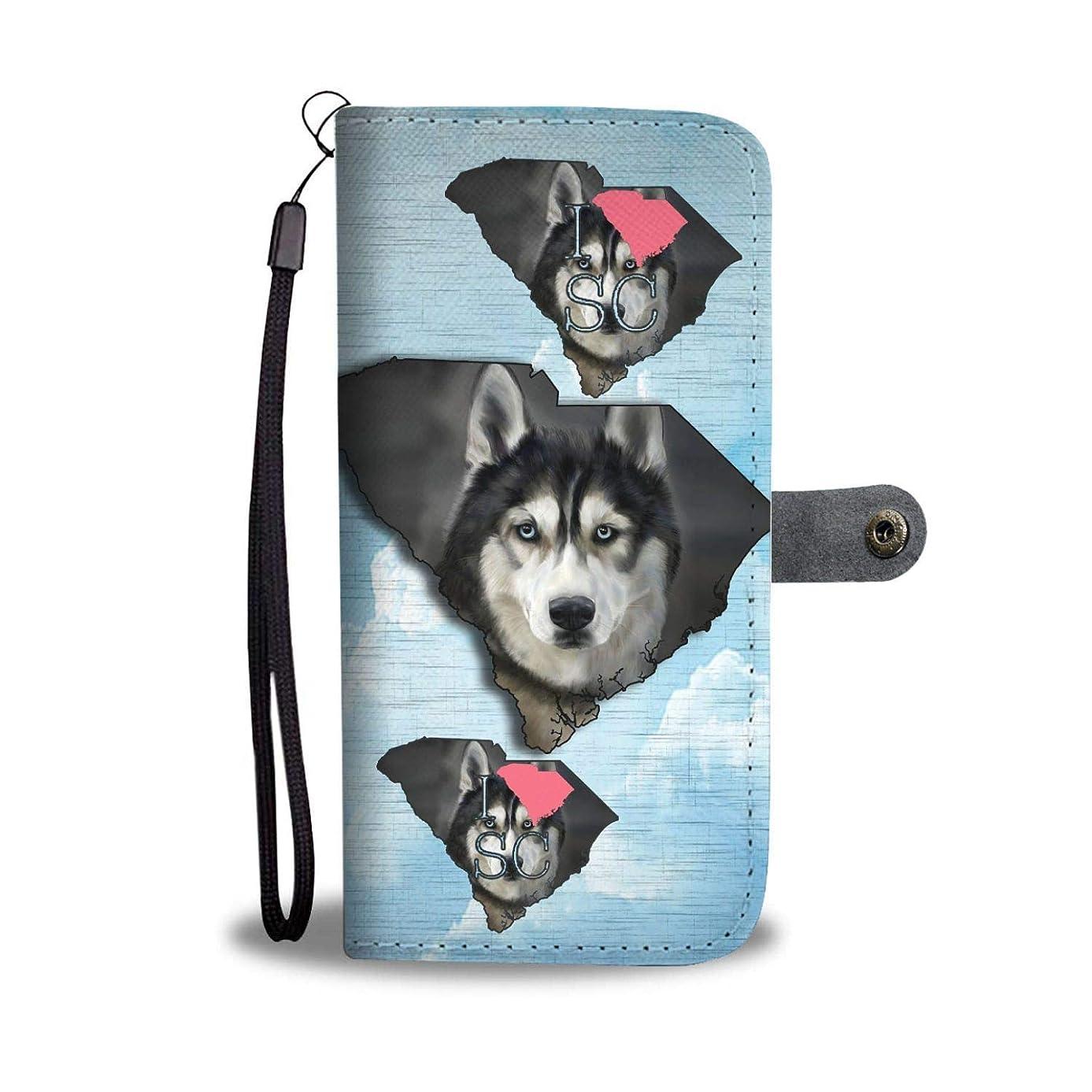 Nobelpets Amazing Siberian Husky Dog Print Wallet Case-SC State