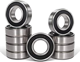 Bonbo 10 Pcs 6003-RS(2RS) Seal Bearings 17x35x10mm,Steel and Double Rubber Seal,Deep Groove Ball Bearings
