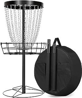 YAHEETECH 24 Chain Disc Golf Basket Portable Metal Disc Golf Target Flying Disc Golf Practice Basket w/Water Resistant Car...