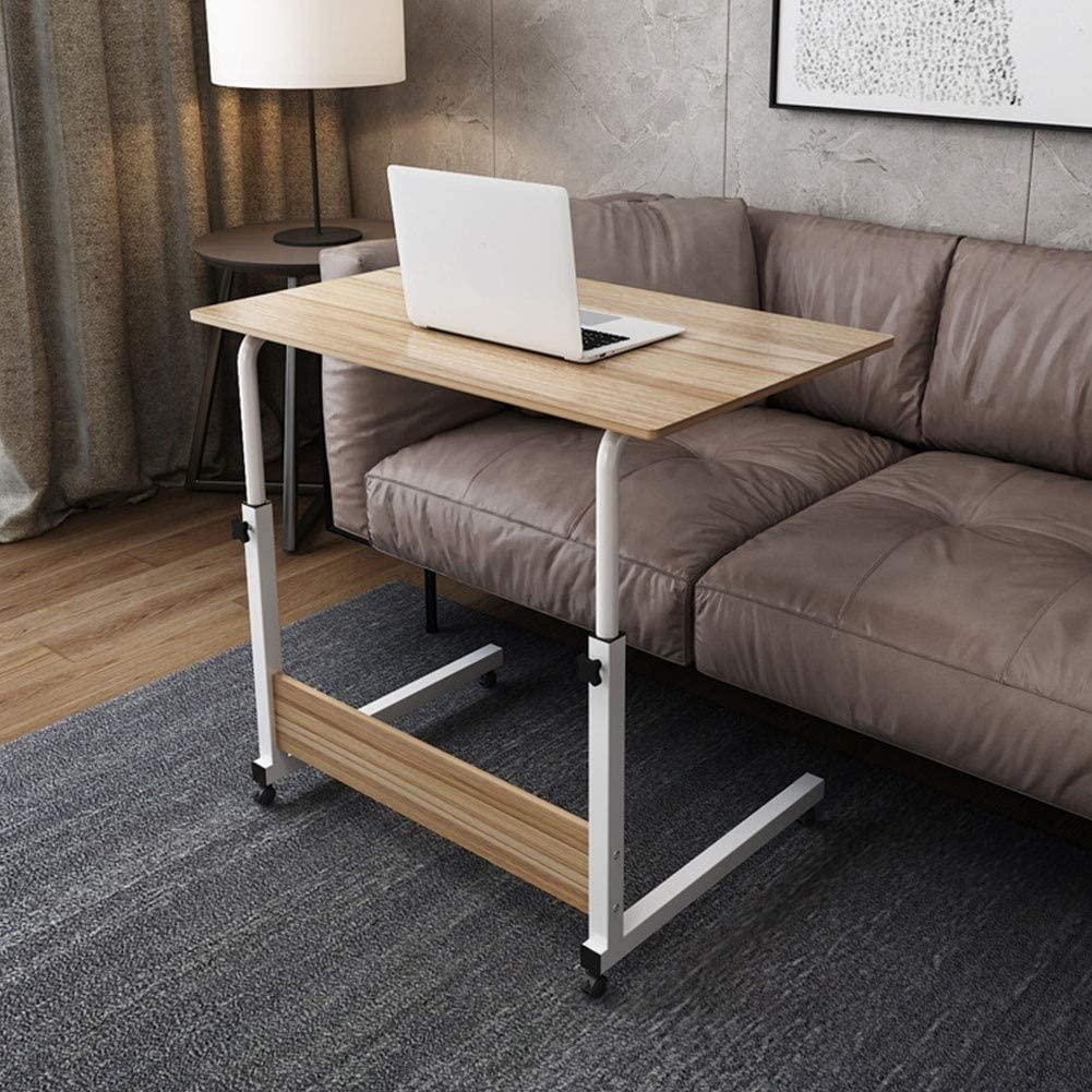 H/öhenverstellbar Laptoptisch Laptopst/änder Computertisch Sofa Bett St/änder Schreibtisch Pflegetisch Einstellbar Mobiler Betttisch Auf Rollen Color : A, Size : 80x40cm
