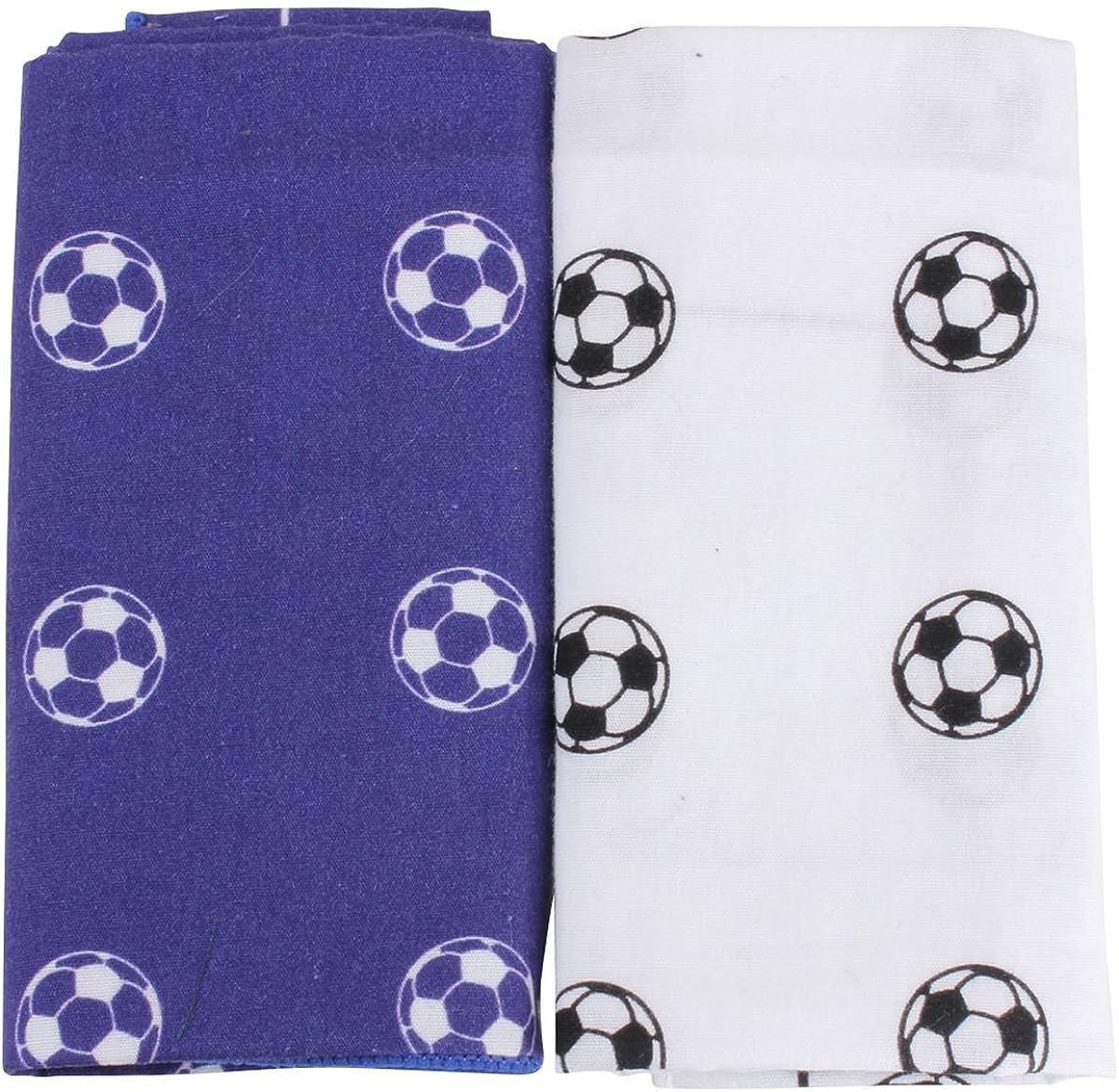 David Van Hagen Mens Football Handkerchief Set - Blue/White