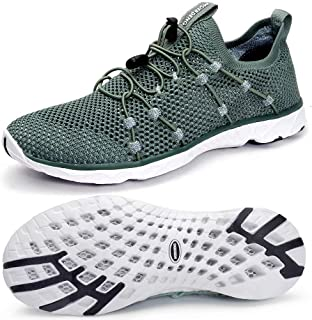 MOERDENG Men's Quick Drying Water Shoes Lightweight Aqua Shoes for Sports Outdoor Beach Pool Exercise