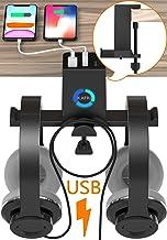 آویز ایستاده هدفون RGB با شارژر USB ، پایه نگهدارنده هدفون KAFRI دو میز هدفون قلاب با 4 درگاه شارژ USB ، لوازم جانبی میز بازی PC برای مردان