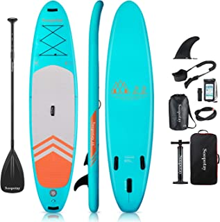 Soopotay Inflatable SUP Stand Up Paddle Board, Inflatable SUP Board, iSUP 11' x 32'' x 6''