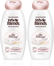 Garnier Whole Blends Gentle Oat Delicacy, Moisturizing Shampoo Set With Oat Milk and Rice Cream Extracts, For Fine Hair and Sensitive Scalps, Paraben Free, 2 Count