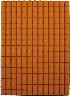 Panel de plástico para el tejado, con tejas grandes, color terracota,35 x