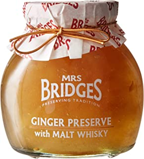 Mrs Bridges Ginger Preserve with Malt Whisky, 12 Ounce (1 Jar)