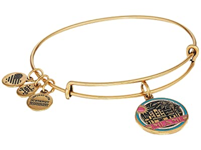 Alex and Ani Places We Love Miami Bangle (Rafaelian Gold) Bracelet