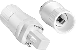 G24-D G24D - Adaptador de 2 pines a rosca E14 para bombillas LED
