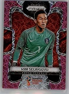 2018 Panini Prizm World Cup Prizms Pink Lazer #190 Kim Seunggyu SER/40 Korea Republic