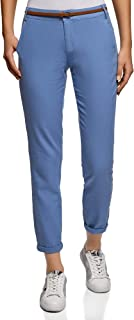 oodji Ultra Women's Belted Slim-Fit Trousers