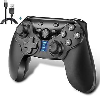 iAmer Mandos Inalámbrico para Nintendo Switch, Mando Pro Controller Para Nintendo Switch Bluetooth Gamepad Joystick con Gyro Axis Dual Shock Vibration