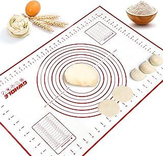 GWHOLE Tapis de Cuisson en Silicone Anti-adhésif Tapis de Pâte avec Mesures - 60 x 40 cm