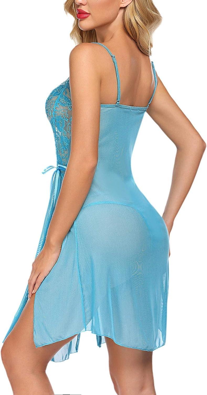 Avidlove Women Lace Lingerie Babydoll Dress Strap Chemise Sleepwear Sexy Nighty S-XXL
