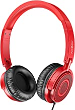 Vogek On Ear Headphones with Microphone, Lightweight Portable Fold-Flat Headsets with Mic, Stereo Bass, 1.5M Tangle Free C...