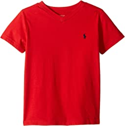 Polo Ralph Lauren Kids - Cotton Jersey V-Neck T-Shirt (Little Kids/Big Kids)