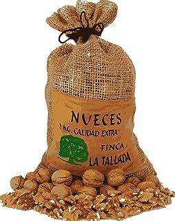 Nueces Naturales cultivadas en España. Saco yute 2 Kgs.: Amazon.es: Alimentación y bebidas