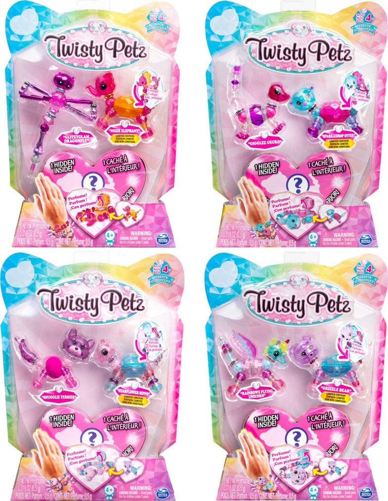Spin Master Twisty Petz Three Pack Figures Razzle Elephant Pupsicle Puppy (20103204), Twisty Petz 3 Pack, Colores Surtidos