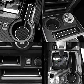 Auovo Anti Dust Door Mats for Toyota 4Runner 2019 2018 2017 2010-2016 Interior Accessories Custom Fit Door Compartment Cup Center Console Liners(2 Row, 27pcs/Set) (White, Glow in Dark)