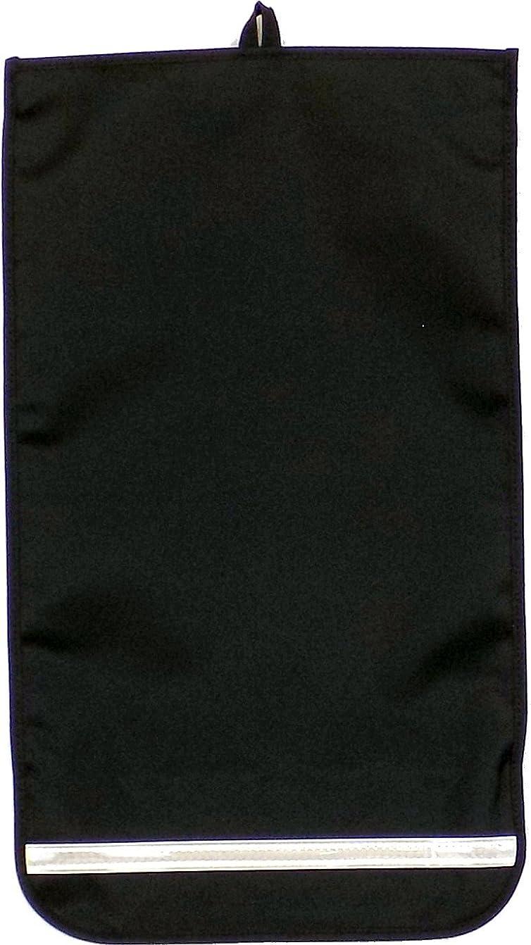 運命的なクックライバル(ワイドサイズランドセル用) 日本製反射テープ付きランドセルカバー?黒(生地)×黒(トリム)?コンビカラー