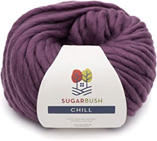 Sugar Bush Yarn Chill Extra Bulky Weight, Plum Frost