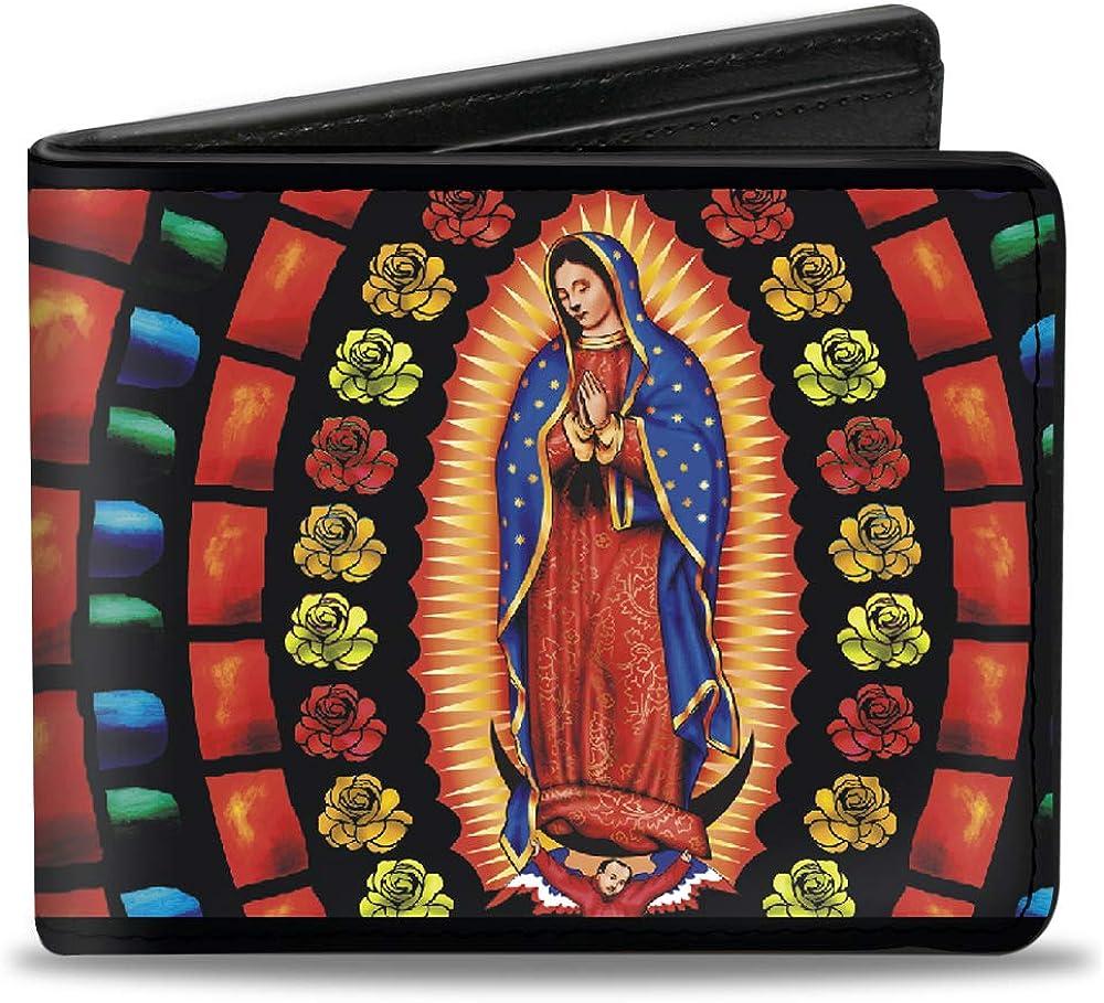 Buckle-Down mens Buckle-Down PU Bifold Wallet - Virgen de Guadalupe,Multicolor,4.0