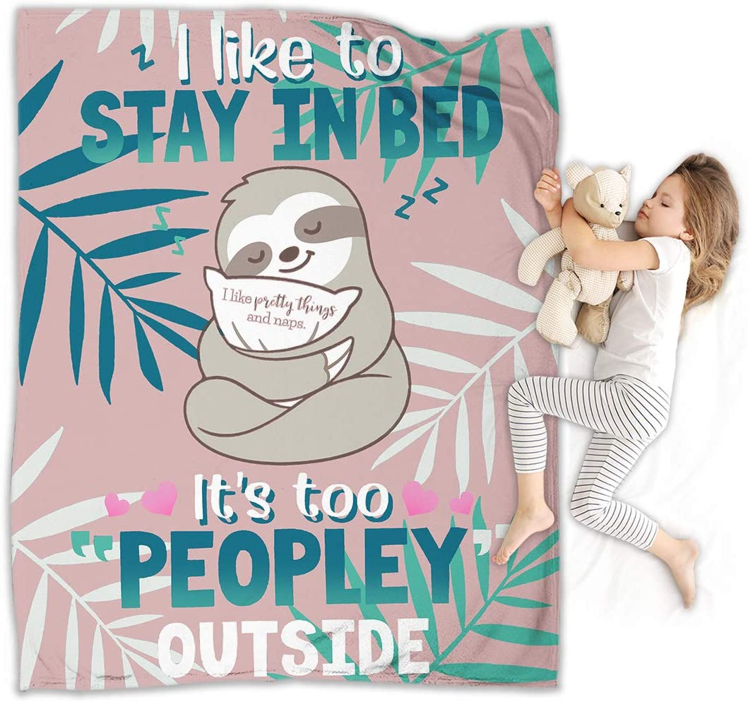 Sloth Blanket Adorable Super-Soft For New Free Shipping Spring new work one after another Extra-Large