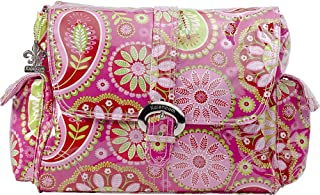 Kalencom Laminated Buckle Bag, Gypsy Paisley Cotton Candy (Discontinued by Manufacturer)