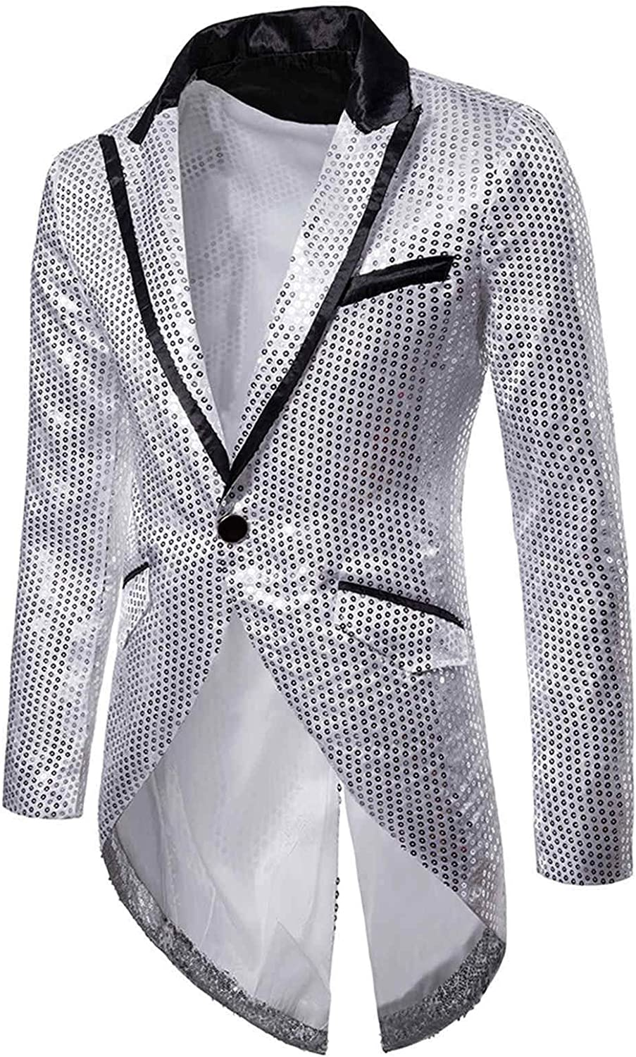 Men's Max 65% OFF Fashion One Button Sequin Party Many popular brands Jacket Suit Dinne Weddings