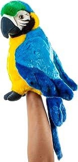Teddys Rothenburg Teddys Rothenburg Kuscheltier Papagei Handpuppe blau 25 cm Stoffpapagei