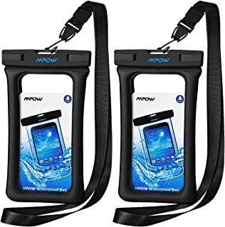 """Mpow 084 Waterproof Phone Pouch Floating, IPX8 Universal Waterproof Case Underwater Dry Bag Compatible iPhone Xs Max/Xr/X/8/8plus/7/7plus Galaxy s10/s9/s8 Note 9 Google Pixel up to 6.5"""" (Black+Black)"""