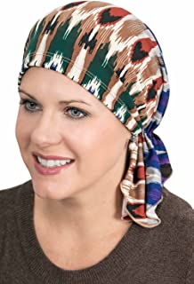Slip-On Slinky-Caps for Women with Chemo Cancer Hair Loss Sedona Canyon