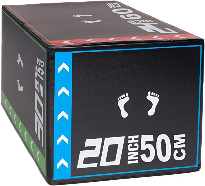 box pliometrico prisp per allenamenti gambe e esercizi – 50/60/75 cm box per palestra in schiuma - 8 16 kg psp1235