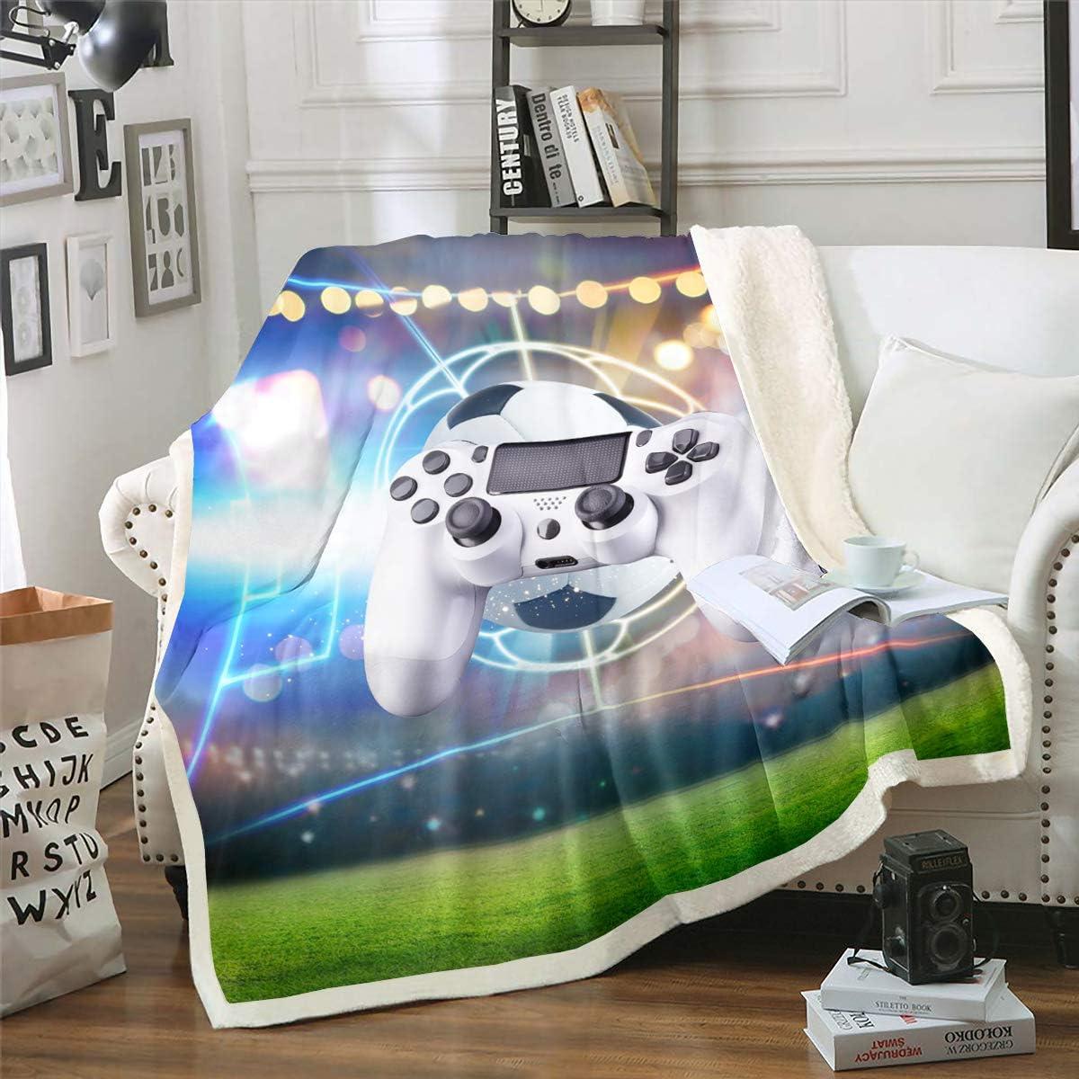 New mail order Erosebridal Gaming Flannel Blanket G Sherpa Mesa Mall Video Gamer