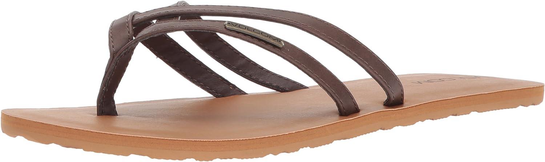 Volcom Womens Crosstown Dress Sandal Flat Sandal