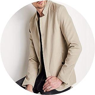 4740e9cbd41c ZHANGZZ Jacket Coat Men Fashion Washed 100% Cotton Madarin Collar Jackets  Coat Men
