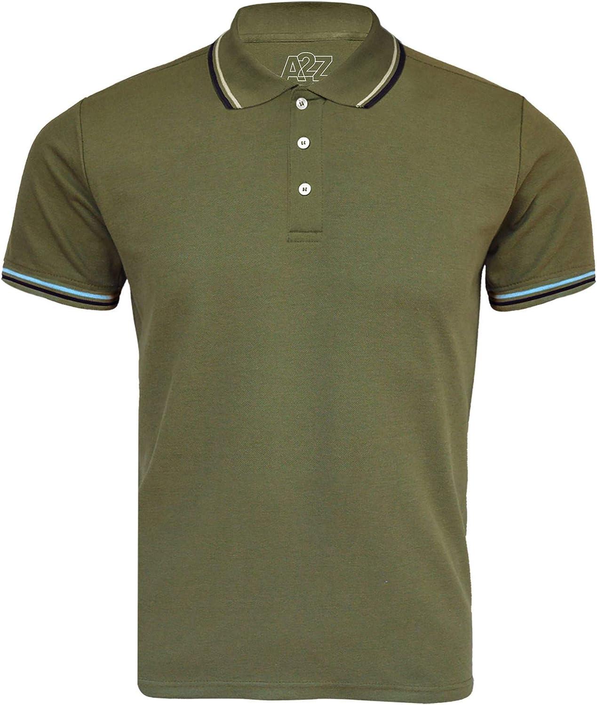 Kids Boys Girls Polo T Shirt Designer Plain Olive School T-Shirts PE Top 3-13 Yr