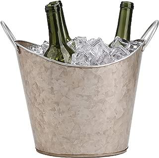 Mind Reader GALIWINE-BRN Beverage Bucket Plated Galvanized, Heavy Duty, Brown, One Size, Copper Ice Tub