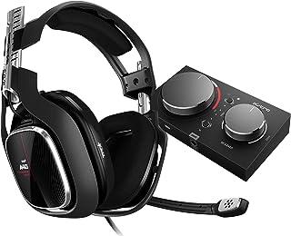 ASTRO Gaming A40TR Auriculares alámbricos y MixAmpPro TR, 4ta gen, Audio V2, Dolby Audio & ATMOS, micrófono intercambiable, control de balance juego/voz, Xbox Series X S, Xbox One, PC, Mac -Negro/Rojo