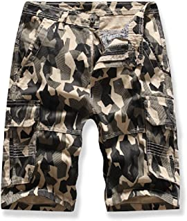 Howely Men's Outdoor Multi Pockets Casual Camo Fitted Cargo Short