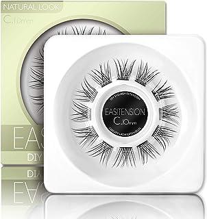 EASITENSION DIY つけまつげ まつげ延長、3 D効果接着剤バンド個々のラッシュ 12クラスタ、ボリューム睫毛セット、家のまつげ延長、Cカール睫毛パック10 mm、12 mm(キット) (10mm-まつげだけ)