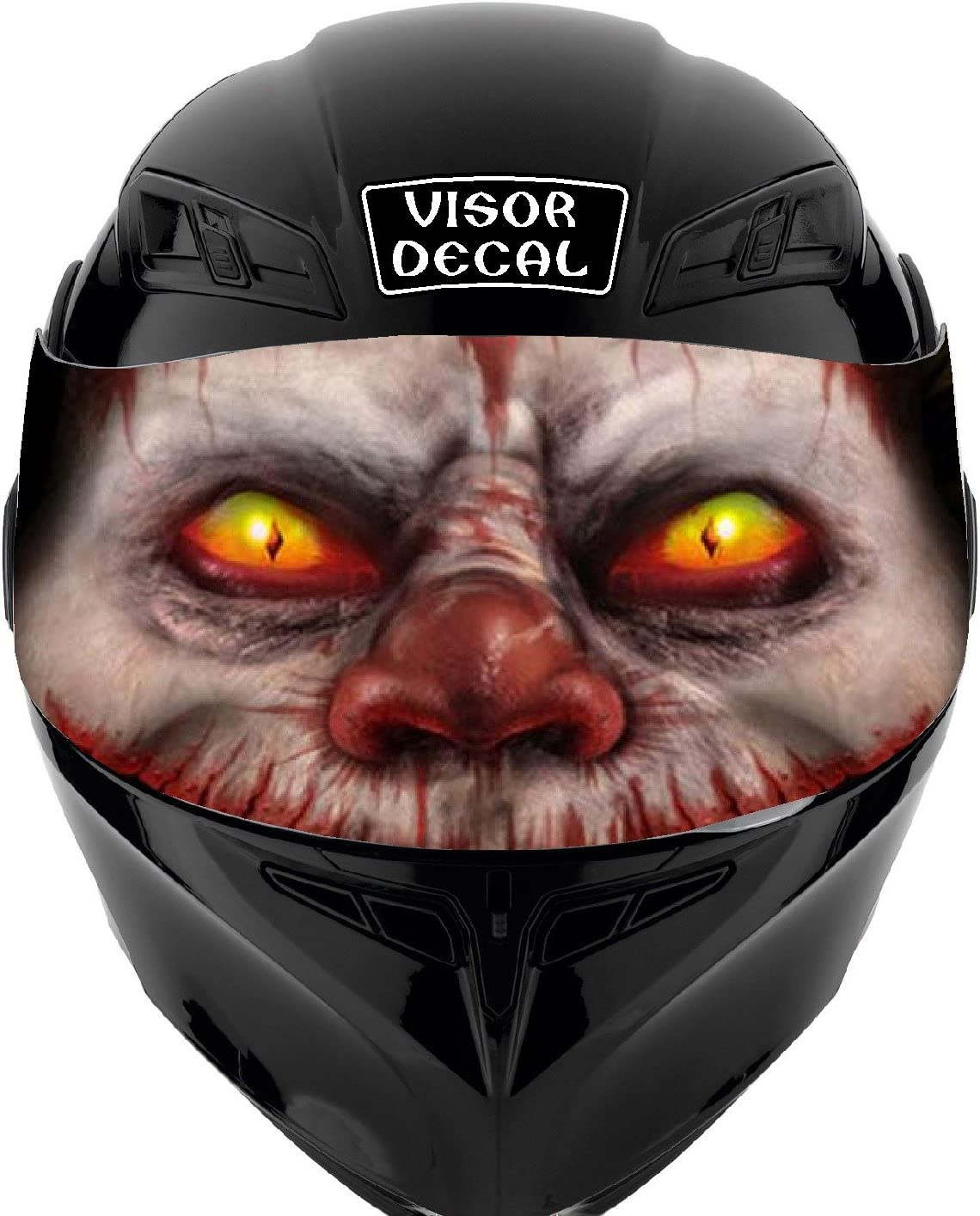 V15 Evil Clown VISOR TINT DECAL Fits: Sticker Ico Special price for a limited time Graphic Mail order Helmet