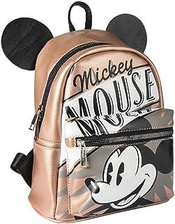 Mochila Casual Moda Mickey, Unisex Adultos, Marrón (Marron), 11x22x22 cm (W x H x L)
