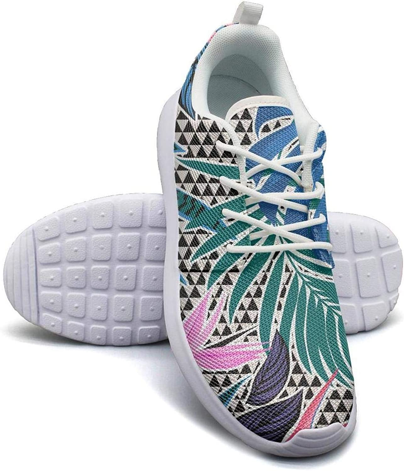 CHALi99 Comfort Woman Lightweight Mesh shoes Tropical Floral Monstera Fashion Sneakers Athletic Soft Sole