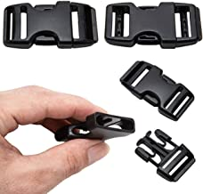 """Aveler Pro Quick Side Release Buckles 1.0"""" Wide Dualable Adjustable Heavy Duty Plastic Replacement for Nylon Strap Backpac..."""