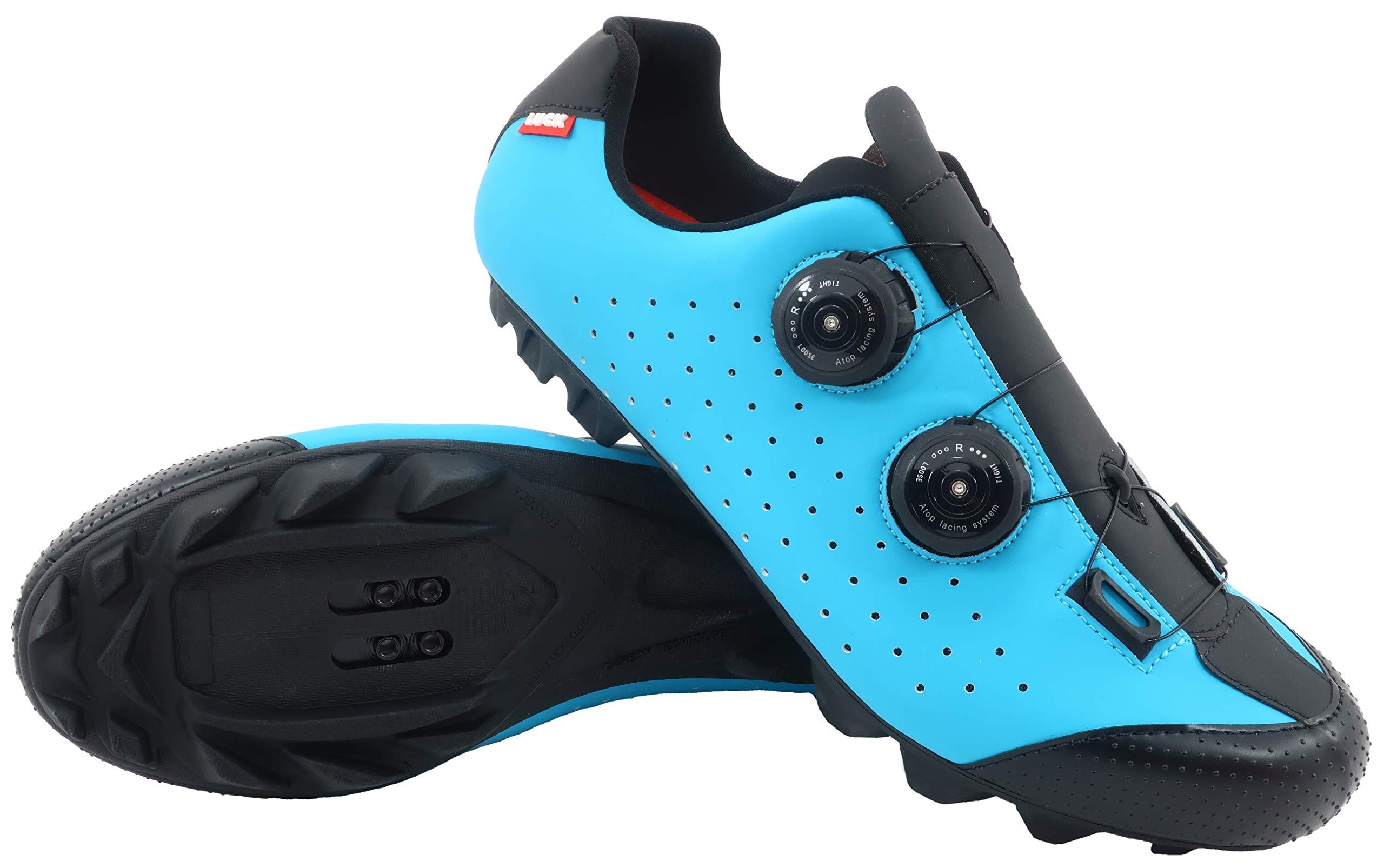 LUCK Zapatilla de Ciclismo MTB Eros con Doble Cierre rotativo de Alta precisión. (44 EU, Azul): Amazon.es: Deportes y aire libre