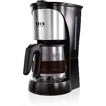TM Electron TMPCF005 cafetera eléctrica de Goteo, 1000W de Potencia, Jarra de 1,5L para 12 Tazas y Filtro extraíble, 14 Cups, Plástico, Acero Inoxidable: Amazon.es: Hogar