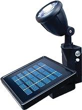MAXSA Directionally Focused Solar LED Flag Light, Black, with Hardware for Flag Poles 40334