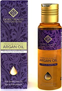 Premium Argan Oil for Hair Treatment, Conditioning & Hair Loss Prevention, Provides Anti-Aging Properties (120 ML/4 OZ) Moroccan Oil Formula for Healthy Hair by Desert Beauty