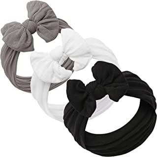 Baby Girl Headbands and bows - Nylon Headband Fits newborns toddlers infants girls